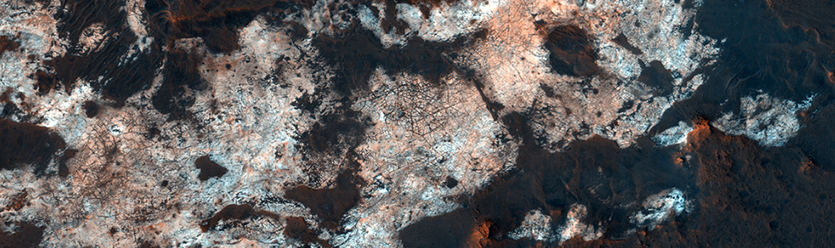 A high-resolution image of a Martian surface