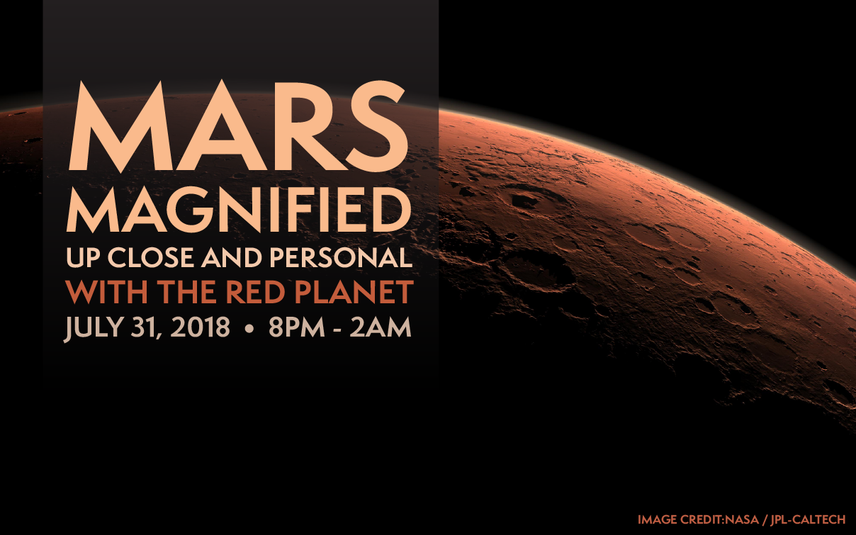 mars magnified mars opposition july 31 8pm to 2am