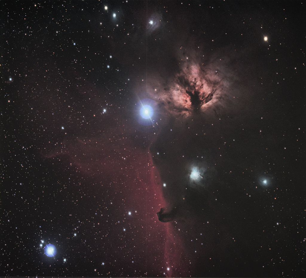 NGC 2024 - The Horsehead and Flame Nebulae