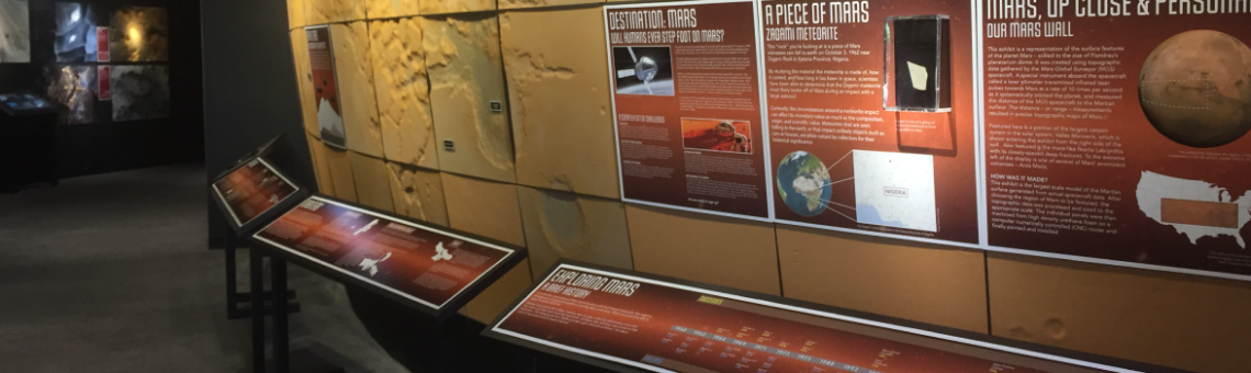 A picture of the mars exhibit in Flandrau